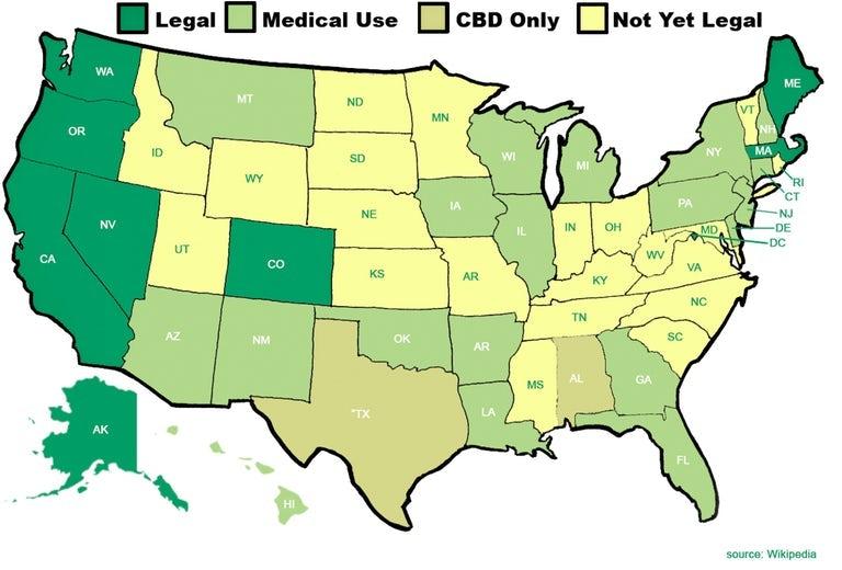 Where Is Marijuana Legal In The U.S.A.? The Definitive Guide ...