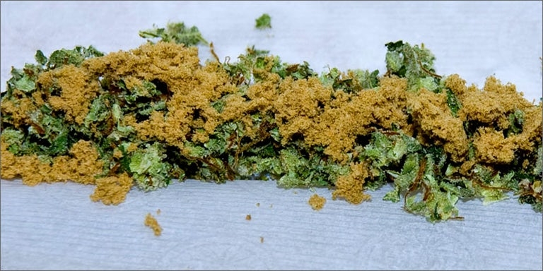 kief in a joint