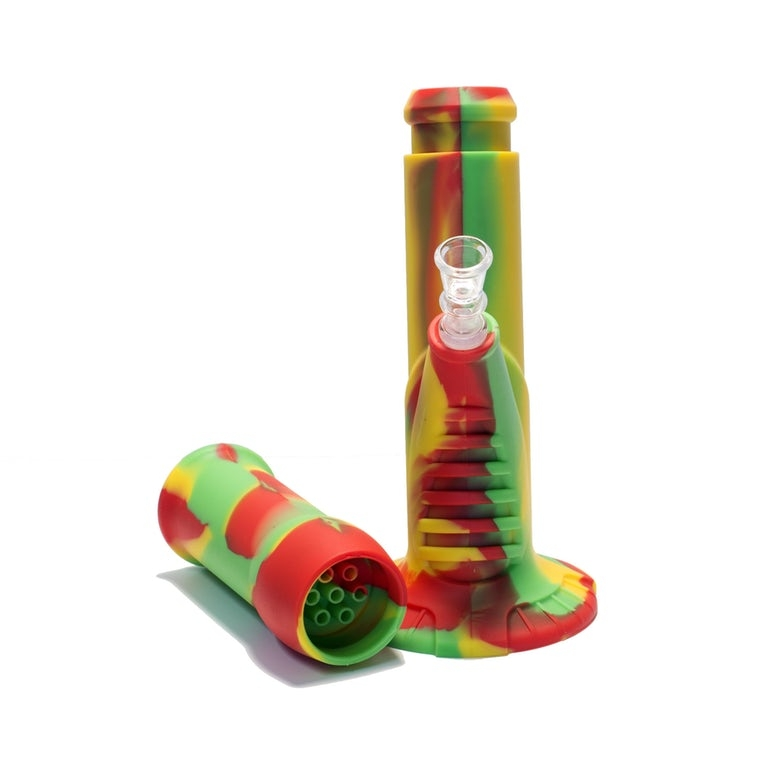 """Indestructible Detachable Silicone Bong 8.5/"""" Water Pipe Colorado.Glass"""